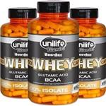 Kit - 3 Whey Protein Isolado Unilife 250 Capsulas