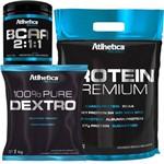 Kit Whey Protein Premium + Dextrose + Bcaa 2:1:1 Atlhetica