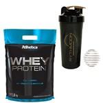 Kit Whey Protein Pro Series 1,8 Kg Morango + Coqueteleira 600ml com Mola