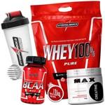 Kit Whey Pure 1,8k + Bcaa 90cps + Creatina 150g + Shaker - Integral Medica