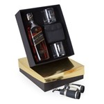 Kit Whisky Escocês Johnnie Walker Double Black Litro + Binóculo + 2 Copos
