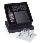 Kit Whisky Jack Daniel's Litro + Tabuleiro de Vidro + 9 Copinhos de Dose Shot (SQ16619)