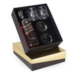 Kit Whisky Johnnie Walker Black Label Litro + 2 Copos e 2 Porta Copos (SQ14219)