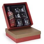 Kit Whisky Johnnie Walker Black Label Litro + Petisqueira + 2 Copos Personalizados (SQ15525)