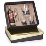 Kit Whisky Johnnie Walker Red Label 500ml + Balde + Pinça e 2 Copos