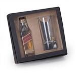 Kit Whisky Johnnie Walker Red Label 50ml + Copo 75ml