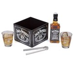Kit Whsiky Jack Daniel's 375ml + Porta Gelo Pinça e 2 Copos