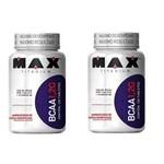 Kit 2x Bcaa 1,2g 120 Caps- (240caps) Max Titanium Vit B6