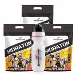Kit 3x Carboidrato Hidraton Carbo 3kg + Squeeze Bodyaction