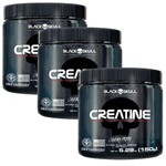 Kit 3x Creatinas Caveira Preta - 150g - Black Skull Creatine