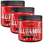 Kit 3x Glutamina Isolates 150g - Integralmédica - Envio já