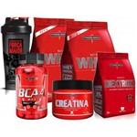 Kit 2x Whey 900g Baunilha + Bcaa + Creatina + Coqueteleira+ Dextrozz