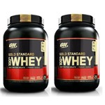 Kit 2X Whey Gold Standard 907GR (1.8KG) - Optimum Nutrition Sabor: Baunilha