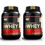 Kit 2X Whey Gold Standard 907GR (1.8KG) - Optimum Nutrition Sabor: Baunilha