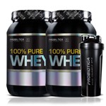 Kit 2x Whey Protein 100% Pure Probiótica 900g (total 1,8kg)