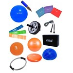 Kit Yoga Pilates C/ 16 Itens Bola Thera Bands Overbal Anel