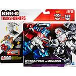 Kre-O Transformers Conversível Delux Optimus Prime VS Megatron - Hasbro