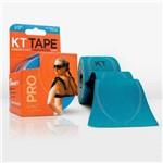 KT Tape Pro 20 Tiras Sintética Pre Cortadas Azul Claro