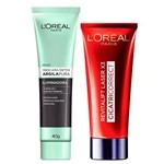 L'oréal Paris Kit - Cicatri-correct + Detox Argila Pura Iluminadora