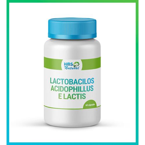 Lactobacilos Acidophillus e Lactis Cápsulas 60cápsulas