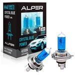Lâmpada Alper Crystal Blue Power H4 Super Branca 55w 12v Par