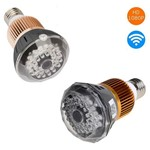 Lampada Led Camera Espiã HD Wifi Segurança 36 Leds Bivolt