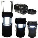 Lampiao Lanterna P/ Camping a Pilhas 4 Leds Preto BRJ