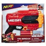 Lança Dardo Nerf Mega Tri Break E0103 - Hasbro