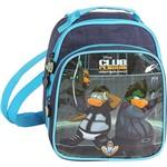 Lancheira Dermiwil Club Penguin Prata/Azul