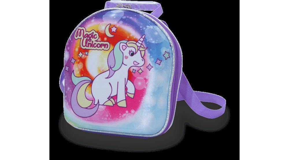 Lancheira Escolar- 3D - Magic Unicorn - Maxtoy