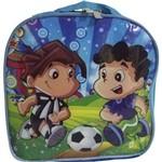 Lancheira Infantil Térmica Futebol Azul
