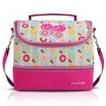 Lancheira Jacki Design Térmica C/ 2 Compartimentos-Borboleta Pink