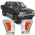 Lanterna Dianteira Pisca Seta Hilux 4x2 4x4 1992 à 2001 Moldura Cromada -Automotive Imports