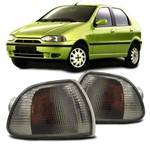 Lanterna Dianteira Pisca Seta Palio Siena Strada G1 1996 a 2000 Fumê Lado Direito Passageiro