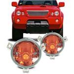 Lanterna do Pisca Mitsubishi L200 2001 2002 2003 2004 Cristal com Cúpula Âmbar