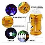 Lanterna Magica 3D com Globo de Luz Led, Farolete e Bateria Portatil BRJ