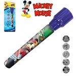 Lanterna Projetora com Acessorios 6 Pecas Mickey a Pilha na Cartela