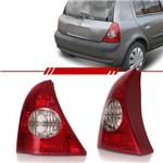 Lanterna Traseira Clio Hatch 2003 a 2010 Re e Pisca Cristal Lado Direito + Lado Esquerdo