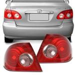 Lanterna Traseira Corolla 02 a 07 Bicolor Rosa Canto