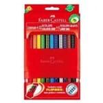 Lapis 12 Cores 12.1012g/P+1 Colour Grip Faber Castell+ 1 Estojo Plastico