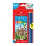 Lápis 12 Cores + 3 Lápis Grafite Faber- Castell