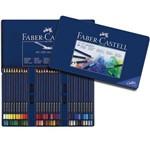 Lápis Art Grip Aquarelável Faber-Castell - Estojo Metálico com 60 Cores - Ref 114260