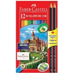 Lapis Cor Faber Sextavado+kit Escolar 12 Embalagens C/12 Cores