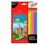 Lápis de Cor 12 Cores + 6 Cores Neon Fabercastell