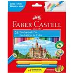 Lápis de Cor 24 Cores Sextavado 1201242vv Faber Castell Único U