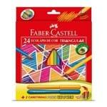 Lápis de Cor 24 Cores Triangular Faber Castell + 2 Canetinhas Vai e Vem 1017810