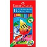 Lápis de Cor Aquarelável 12 Cores + 1 Pincel Faber-Castell
