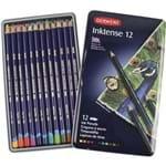 Lápis de Cor Aquarelável Inktense 12 Cores Estojo Lata 2301843