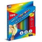 Lápis de Cor Aquarelável Tris Mega Aquarell Triangular 024 Cores 682037