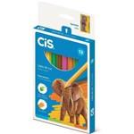 Lápis de Cor Cis Plastic Sextavado (6 Unidades) - Sertic